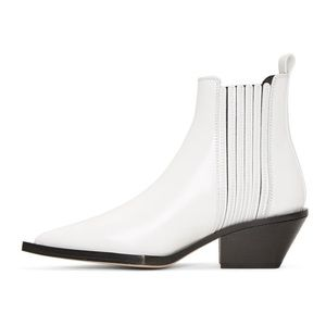 Helmut Lang Cowboy Boot in High Shine Leather